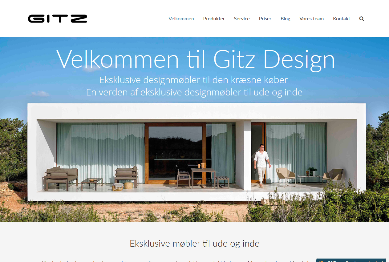 Hjemmeside for Gitz Design