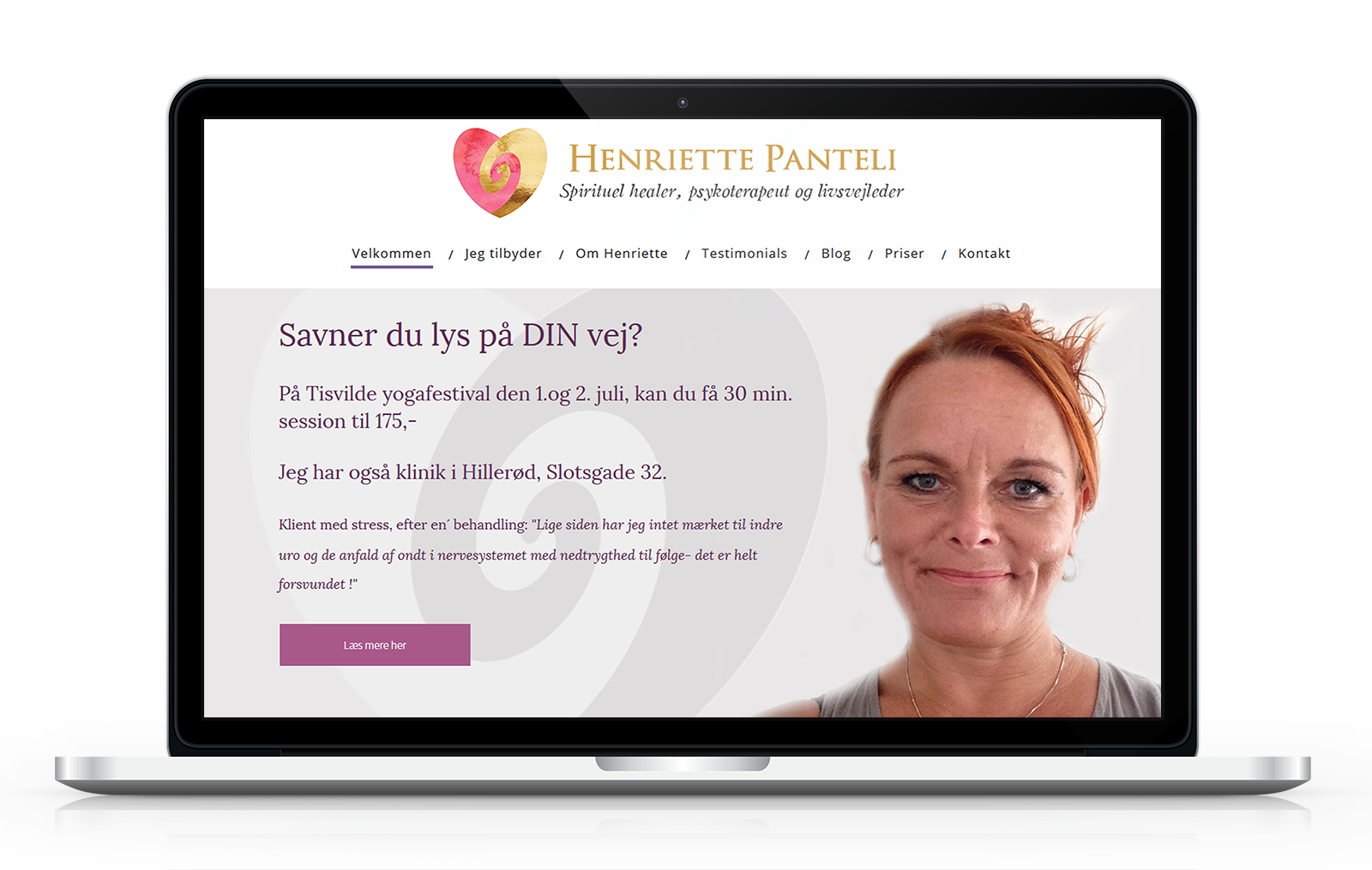 Hjemmeside for healer og coach Henriette Pantheli