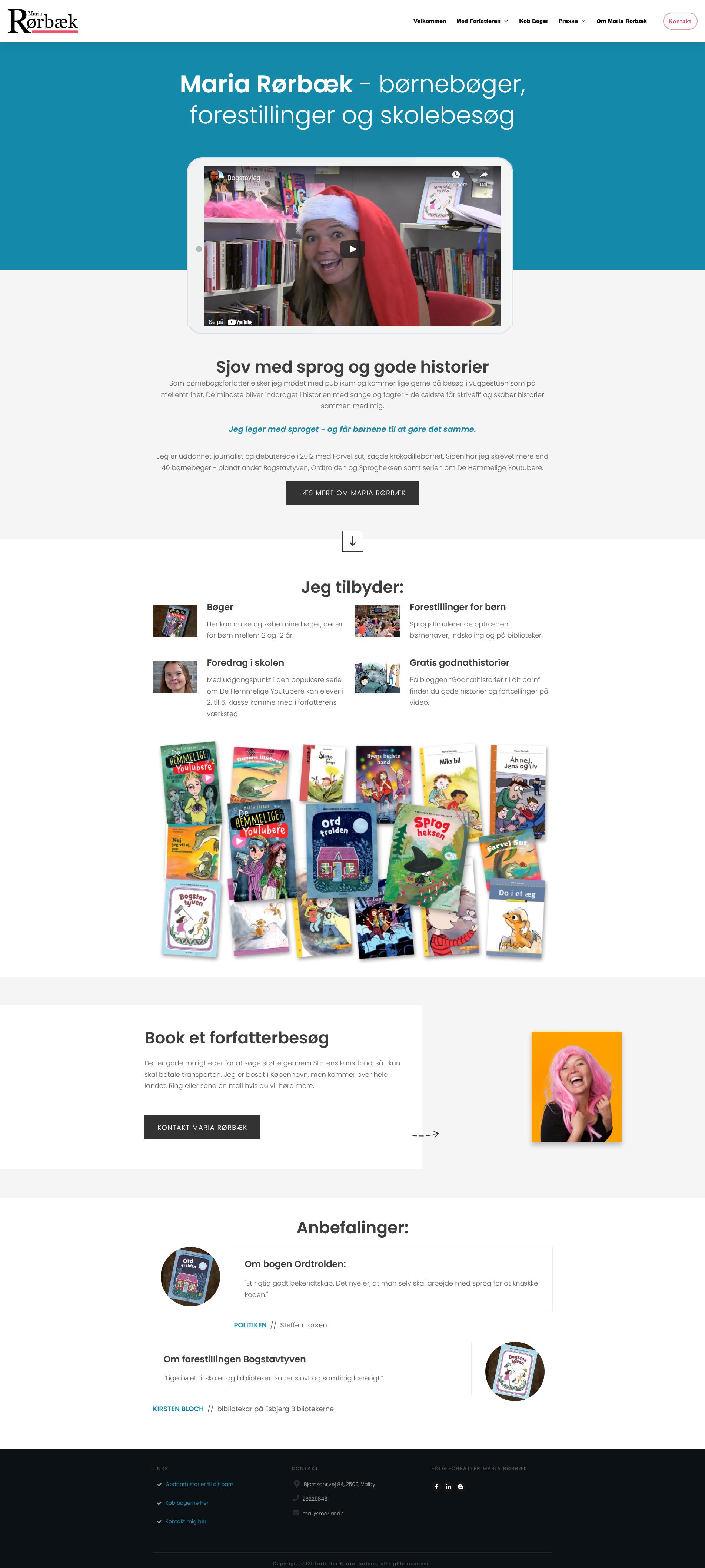 Forfatter Maria Rørbæk har fået en lækker og billig hjemmeside for kun 4995 kr.